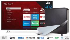 Save $220 on TCL 55-Inch 4K Ultra HD Roku Smart LED TV